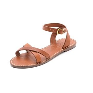 Madewell Crisscross Boardwalk Sandals  8.5